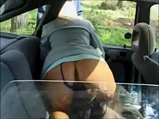 Belle blonde dogging