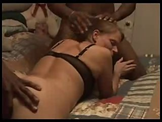The wife getting used by 3 BBC - BLACK BULLS