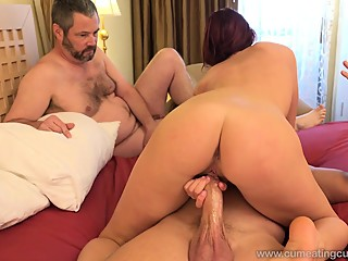 Redhead Wife Has Husband Watch As She Gets Pounded