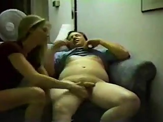 Blonde wife fucks friend
