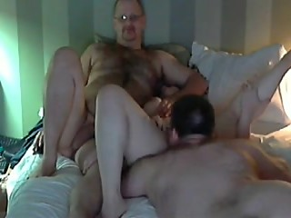 Real mature couple fucking with friend