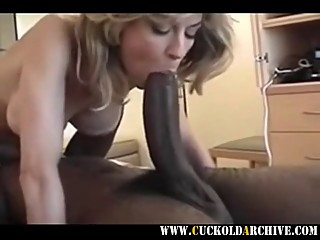 Cuckold archive - MILF sucking fucking huge BC sissy husband
